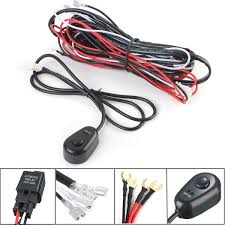 universal fog light wiring harness universal image 12v 40a led work fog light lamp bar wiring harness kit on off on universal fog