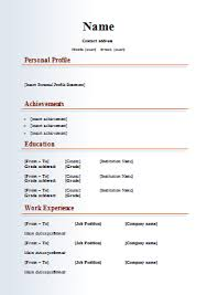 download resume format free