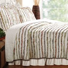bella ruffle quilt set ivory touch to zoom