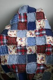 How to Make a Quilt from Old Clothes: Inspiration & More ... & Flannel Rag Quilt Cowboy Motif Red Blue Plaid Denim Teddy Bear Western  Child Quilt Machine Washable by Northernlodge on Etsy Adamdwight.com