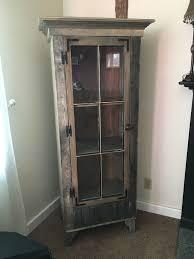 rustic curio cabinet. Simple Rustic Custom Made Rustic Curio Cabinet With Reclaimed Antique Window Door Inside R