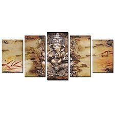 ganesha canvas prints wall art painting hindu god picture framed home decor gift on ganesh canvas wall art with ganesha canvas prints wall art painting hindu god picture framed