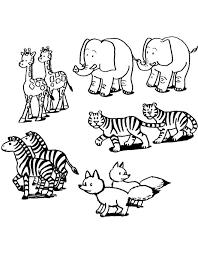 Stampa Disegno Di Coppie Di Animali Da Colorare