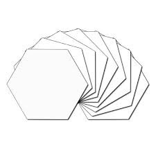 white hexagons 1 3 4 inch hexagon template pictures to pin on pinterest pinsdaddy on plastic hexagon templates
