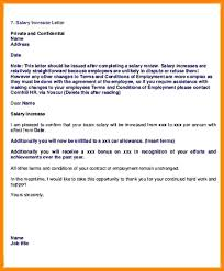 Increment Letter New Salary Increase Letter From Employer Review Template Forms Sample