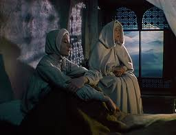 the furniture black narcissus s maddening matte paintings blog as sister ruth goes mad the mountains underline her distress from beyond the enormous windows of the school room the scene is gripped by a malevolent dusk