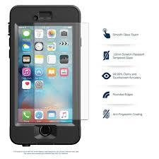 lifeproof case iphone 6 plus. apple iphone 6s / 6 premium hd clear lifeproof nuud ballistic glass screen protector 1-pack case iphone plus l