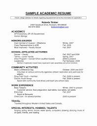 Activities Resume Format College Resume format Best Of Resume Template for College 26