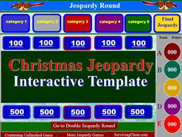 Jeopardy Game Template Christmas Jeopardy Interactive Game Template for Holly Jolly fun in ...