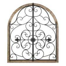 Decorating tips with wall hooks. Arched Wood Wrought Iron Wall Plaque Gate Design 35 High Indoors Outdoors 849179044350 Ebay