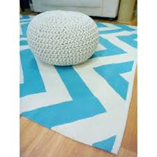 reversible flatweave chevron cotton floor rugs aqua