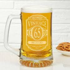 personalized birthday beer mugs vintage classic 12575