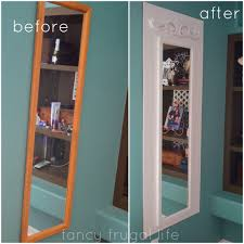 Diy Mirror Projects Oh This Is A Great Idea To Make That Plain Old Full Length Mirror
