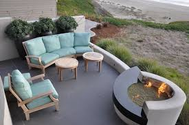 concrete patio designs with fire pit. Painted Concrete Patio With Outdoor Fire Pit Designs