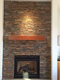 custom made cherry modern beam fireplace mantel