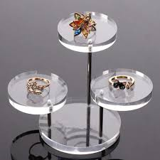 Acrylic Necklace Display Stands 100 Layer Clear Round Button Acrylic Jewelry Display Stand Earring 33