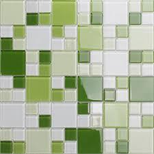 mosaic tile crystal glass backsplash kitchen countertop green bathroom wall floor tile cl162
