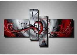 2018 100 hand painted black white red canvas art group oil painting 4 panels wall art high quality coml409 from fineart 57 29 dhgate com on wall art black white and red with 2018 100 hand painted black white red canvas art group oil painting