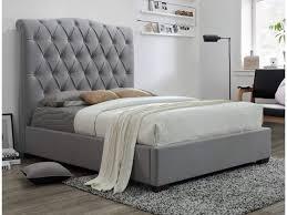 Janice Grey Tufted Platform Bed