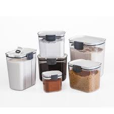 Airtight Storage Cabinet Airtight Food Storage Containers Set Of 6 Kitchen Pantry