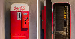 Vintage Vending Machines Extraordinary There's A Hidden Bar Behind This Vintage Coke Vending Machine In