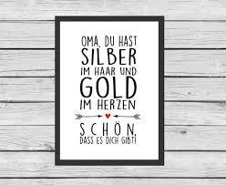 Typo Für Oma Und Opas Art Print For Granny And Grandpa By Kitschn