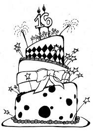 Small Picture Birthday Cake Coloring Pages Printable Happy Birthday Coloring