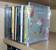picture of diy bookend out of a slim cd case