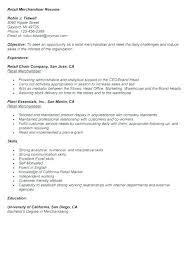 Merchandise Manager Resume Sample Visual Merchandising Resume Best