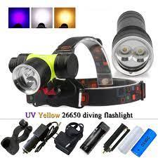 LED Dalış Far Dalış El Feneri UV El Feneri LED 26650 CREE L2 T6 Fener  Sualtı ışığı Kafa Lambası Torch Dalış ışığı Nextadvance.news