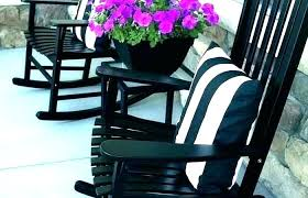 black outdoor rocking chairs black wood