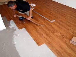 laying vinyl plank flooring on concrete