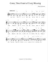 Come Thou Fount Chord Chart Come Thou Fount Of Every Blessing Lead Sheet