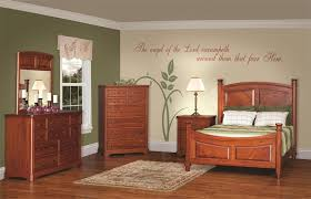 Lovely Amish Johnson Five Piece Bedroom Furniture Set In Rustic Cherry   Made In  USA