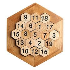 Wooden Math Games Amazon Honeycomb Math Puzzles Brain Teaser Wooden Hexagon 5