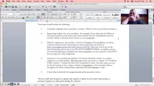 five paragraph essay letter of complaint part  five paragraph essay letter of complaint part 3
