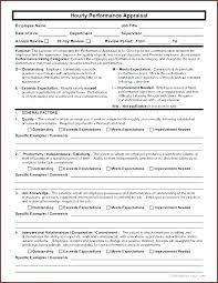 Annual Review Forms For Employees Employee Performance Review Template Word