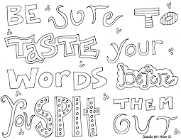 Be Sure To Taste Your Words