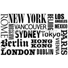 world city names vinyl wall art decals new york london paris with regard to 2017 paris