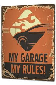 Blechschild Xxl Sprüche Meine Garage Meine Regeln
