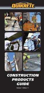 Quikrete Construction Products Guide Pages 1 50 Text