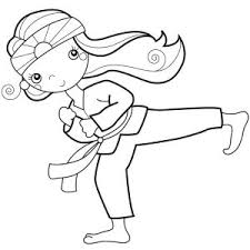 Small Picture Coloring Pages Glamorous Karate Coloring Page Pages Karate