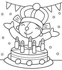 Kleurplaat Pompom Verjaardag Feest Birthday Birthday Coloring