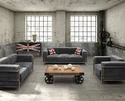 industrial style living room furniture. industrial loft furniture eclecticlivingroom style living room