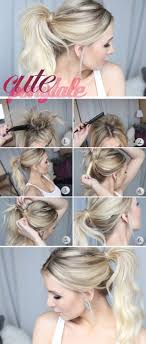Quick Cute Ponytail Hairstyles 18 Cute Hairstyles That Can Be Done In A Few Minutes Easy