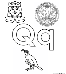 Small Picture q words alphabet s45b3 Coloring pages Printable