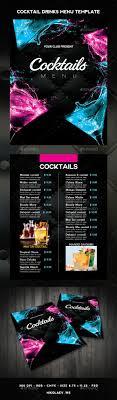 Drinks Menu Template Cocktail Drinks Menu Menu Drink Menu And Food Menu 8