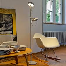 Belux - U-Turn floor and reading lamp, grey