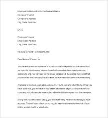 job termination letters 19 free termination letter templates free sample example