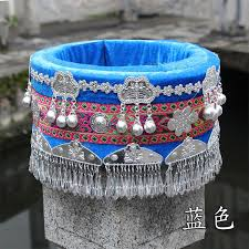 2019 Hmong <b>Hat Miao</b> Jewelry <b>Chinese</b> Folk Dance Wear Hair ...